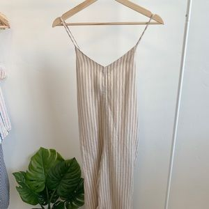 Lou & Grey Striped Linen Jumpsuit